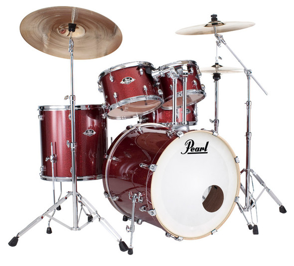 Pearl Export USA Fusion in Black Cherry w/ Hardware & Sabian SBR Cymbals
