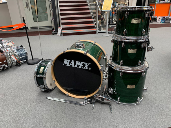 Mapex M Series Shell Pack with Snare in Emerald Green (Pre-Owned)