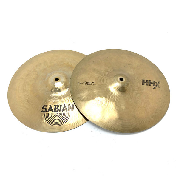 Sabian HHX Evolution 14 Inch Hi-Hat Cymbals (Pre-Owned)