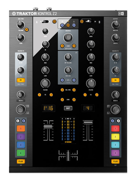 Native Instruments Traktor Kontrol Z2 2+2 Channel Control DJ Mixer  (Ex-Display)