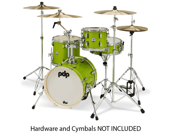 PDP PDNY1604EL New Yorker Shellpack Electric Green Sparkle