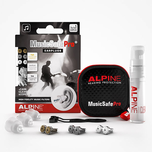 Alpine MusicSafe Pro Transparent Ear Plugs in Case