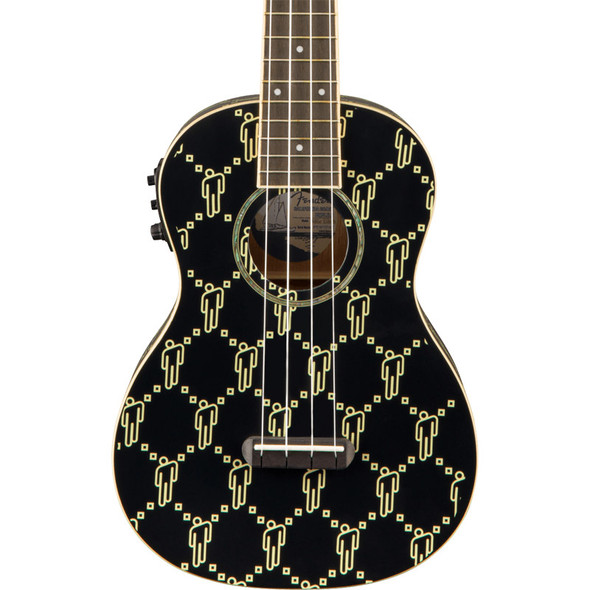 Fender Billie Eilish Ukulele, Black blohsh, Walnut Fingerboard