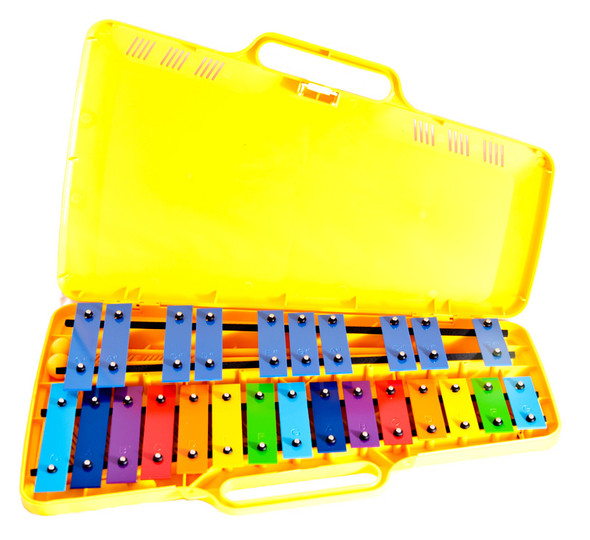 Angel AX2503 25 Note Glockenspiel, Coloured Keys