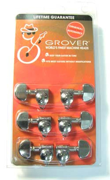 Grover 102C Original Rotomatics 3 A Side Machine Heads Tuners Chrome