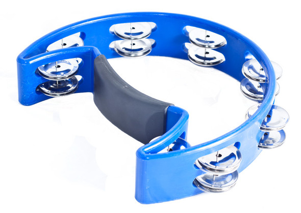 Performance Percussion Moon Tambourine, Blue