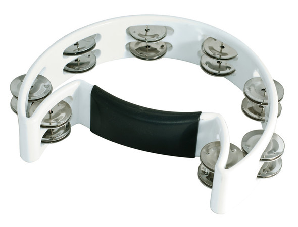 Performance Percussion Moon Tambourine, White
