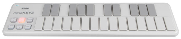Korg NanoKEY2 USB MIDI Controller Keyboard (White)
