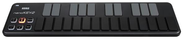 Korg NanoKEY2 USB MIDI Controller Keyboard (Black)