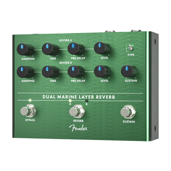 Fender Dual Marine Layer Reverb Effects Pedal