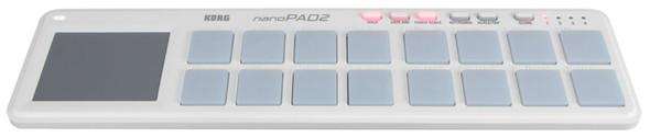 Korg NanoPAD2 USB Drum Pad Controller (White)