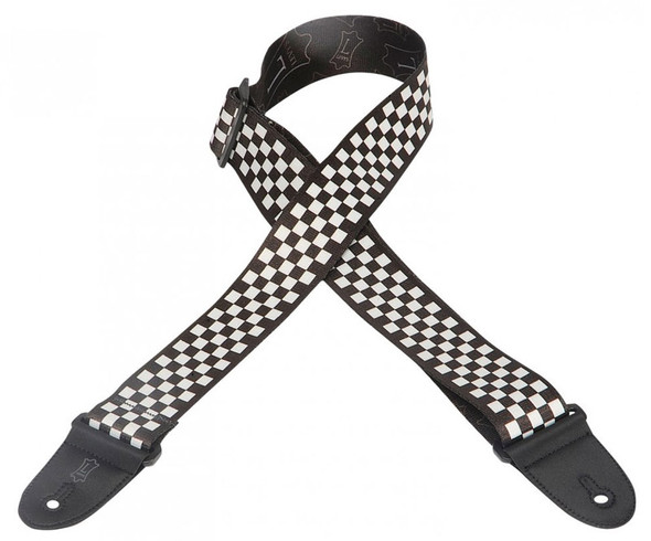 Levys MP-28 2 inch Polyester MP Series - Black/White Chequered