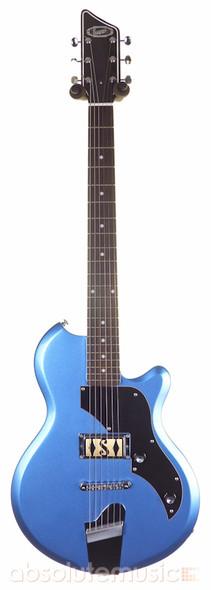 Supro 2010BM Jamesport electric guitar, ocean blue metallic (Pre-Owned)
