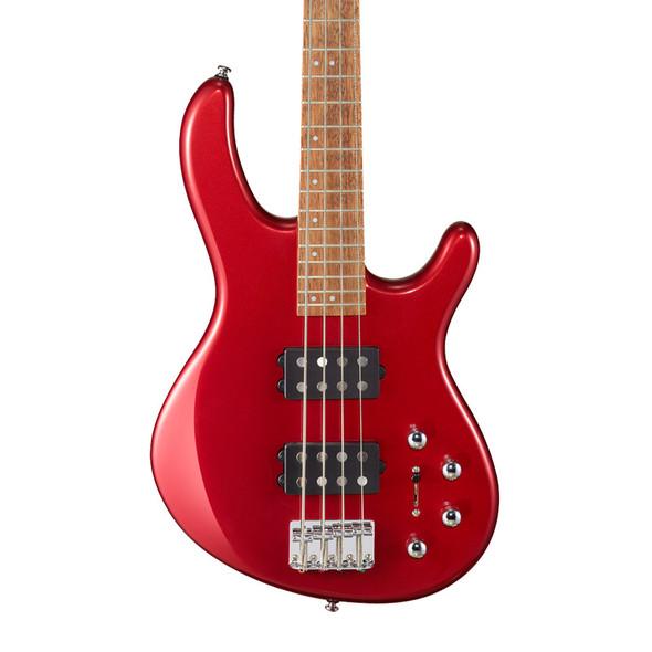 Cort Action HH4 Bass Guitar, Blood Red Metallic