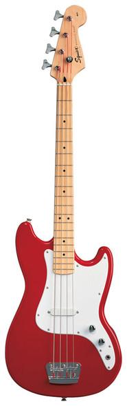 Fender Squier Bronco Bass Guitar, Torino Red, Maple Neck
