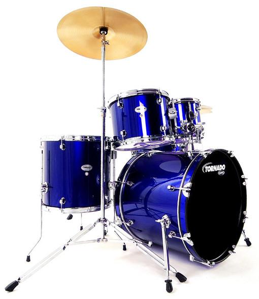 Mapex Tornado 20-Inch Fusion Drum Kit, Blue