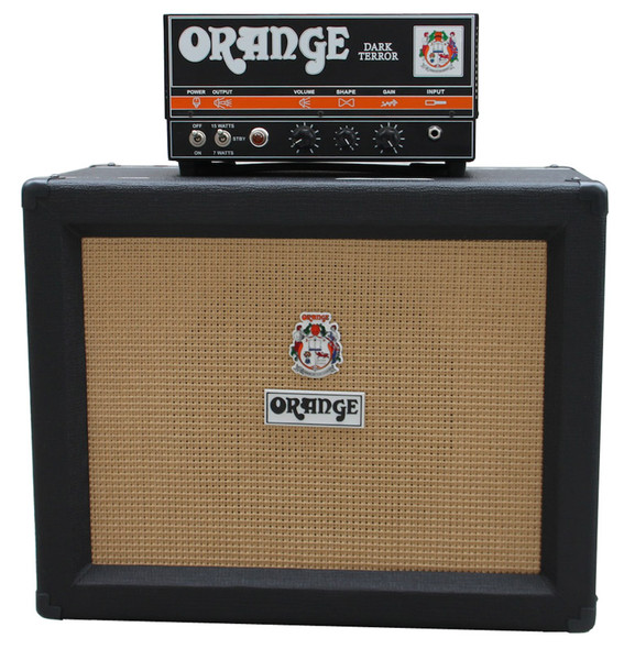 Orange Dark Terror Guitar Head with PPC112 1 x 12 Cabinet (Black)