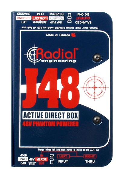 Radial J48 Active phantom powered direct box - mono