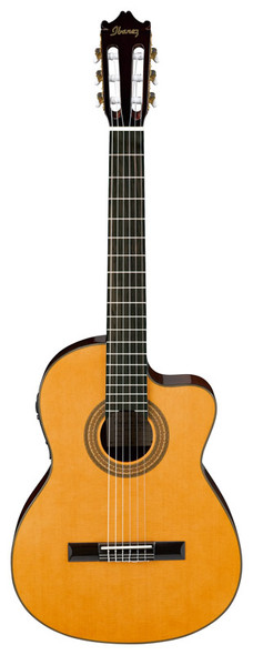 Ibanez GA6CE-AM Electro-Acoustic Classical Guitar, Amber