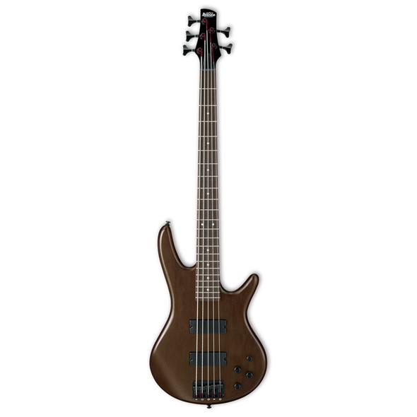 Ibanez GSR205B-WNF 5 String Bass Guitar, Walnut Flat