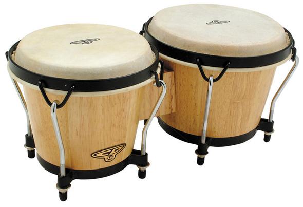 Latin Percussion CP221-AW Traditional Bongos, Natural Wood