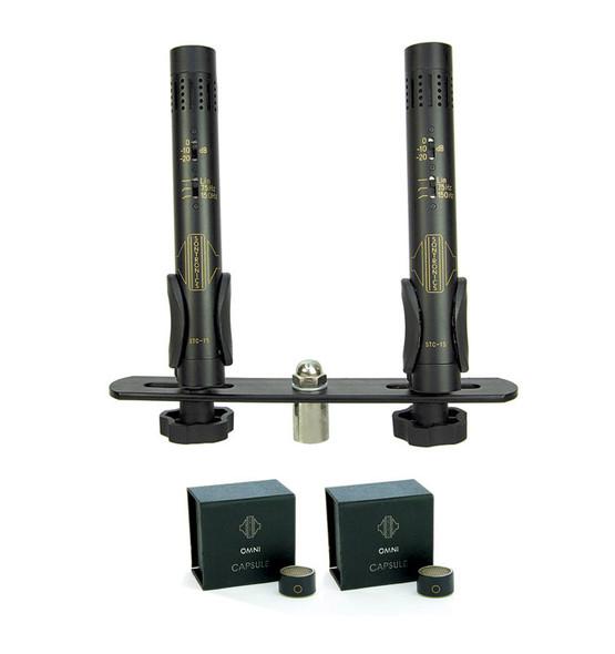 Sontronics STC-1S Pair Condenser Mics, Black with Omni Capsules