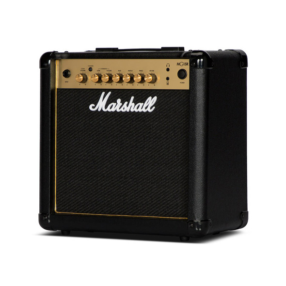 Marshall MG15GR 15W Guitar Combo w. Reverb, Gold