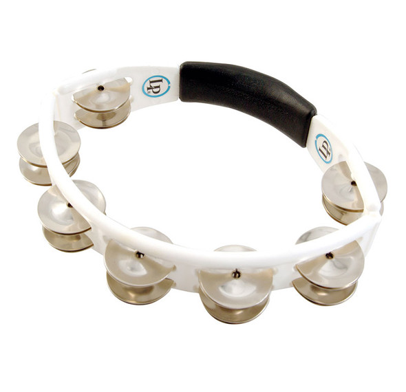 Latin Percussion LP152 Cyclops Tambourine, Steel Jingles, White