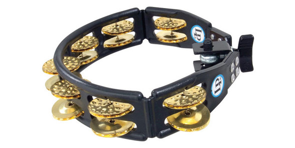 Latin Percussion LP175 Cyclops Tambourine, Brass, Mountable