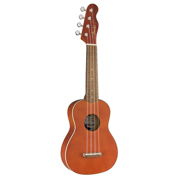Fender Venice Soprano Ukulele, Natural, Walnut Fingerboard
