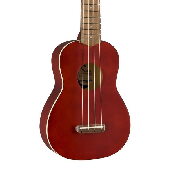Fender Venice Soprano Ukulele, Cherry, Walnut Fingerboard