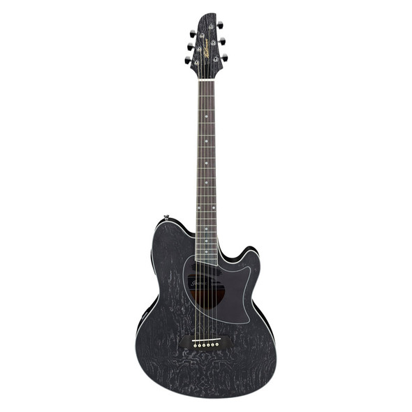 Ibanez TCM50-GBO Electro-Acoustic Guitar, Galaxy Black Open Pore