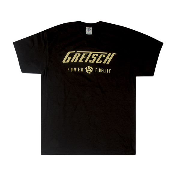 Gretsch Power & Fidelity Mens T-Shirt, Black, Medium