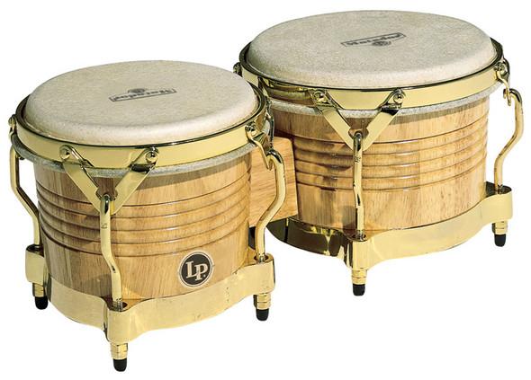 Latin Percussion M201-AW Bongos, Natural, Gold