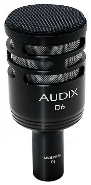Audix D6 Dynamic Kick Drum Microphone Bundle