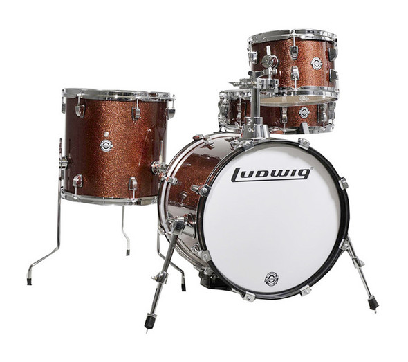 Ludwig Breakbeats Questlove Drum Kit, Wine Red Sparkle