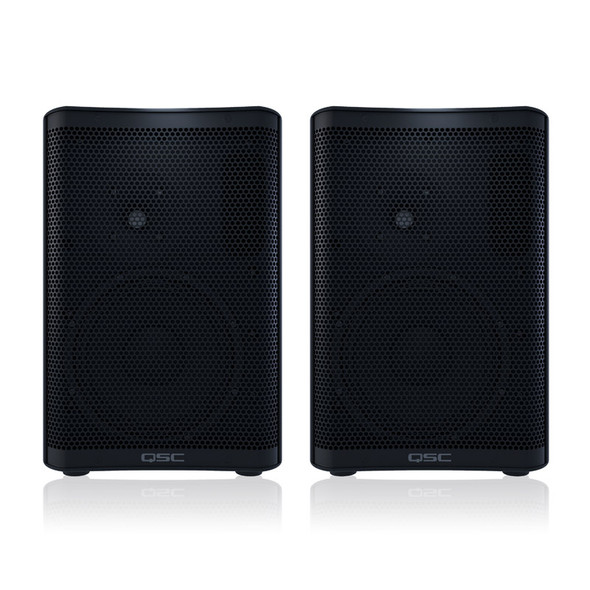 QSC CP8 8 inch Active PA Speakers, Pair