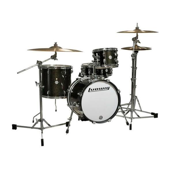 Ludwig Breakbeats Questlove Drum Kit, Black Gold Sparkle