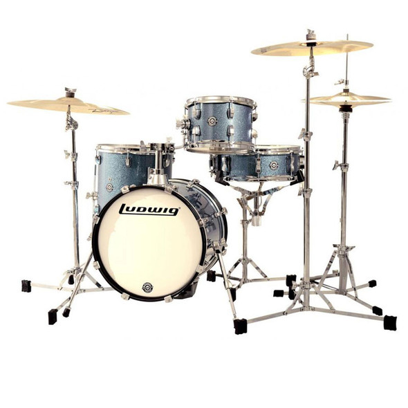 Ludwig Breakbeats Questlove Drum Kit, Light Blue Sparkle