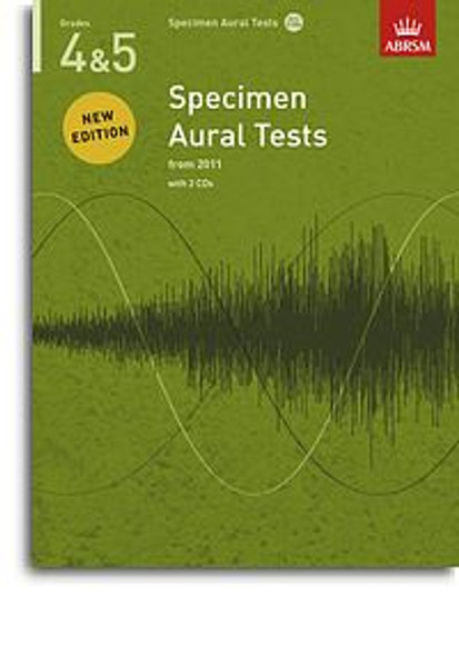 ABRSM Specimen Aural Tests - Grades 4-5 (2011+) Book/2 CDs