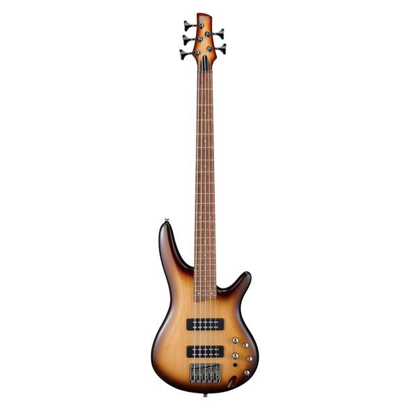 Ibanez SR375E-NNB 5 String Bass Guitar, Natural Browned Burst