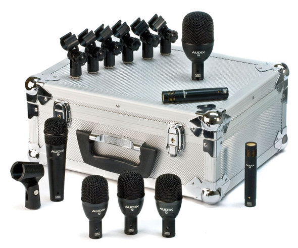 Audix Fusion FP7 Drum Mic Set (3x F2, 1x F5, 1x F6, 2x F9)
