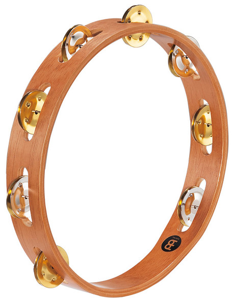 Meinl TA1M-SNT Wood Single Row Tambourine with Mixed Jingles in Natural