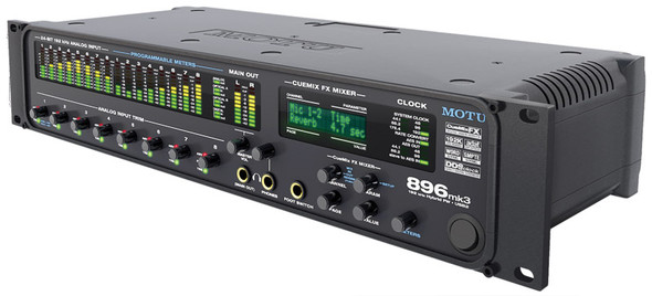 MOTU 896 Mk3 Hybrid USB2 & Firewire audio interface with DSP effects processing