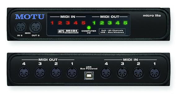 MOTU Micro Lite 5x5 USB MIDI interface