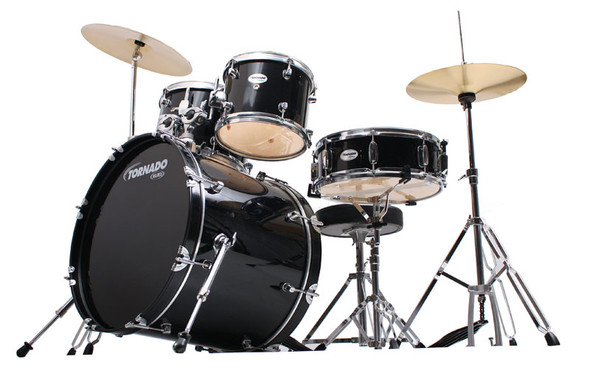 Mapex Tornado 20-Inch Fusion Drum Kit, Black