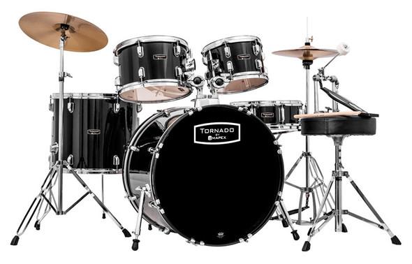 Mapex Tornado 22-Inch LA Fusion Drum Kit, Black