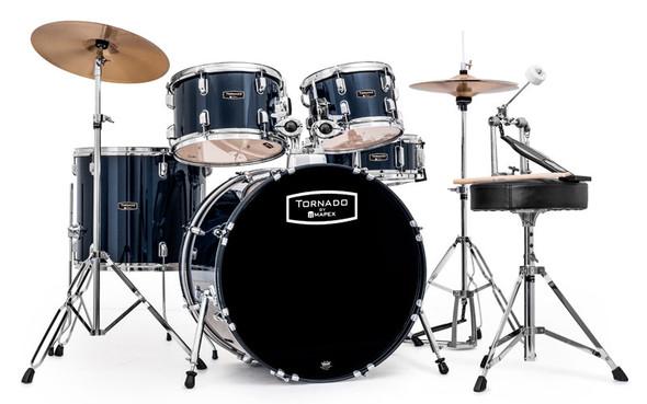 Mapex Tornado 22-Inch LA Fusion Drum Kit, Blue