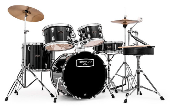 Mapex Tornado 18-Inch Compact Drum Kit, Black