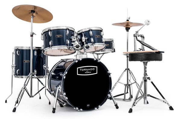 Mapex Tornado 18-Inch Compact Drum Kit, Blue